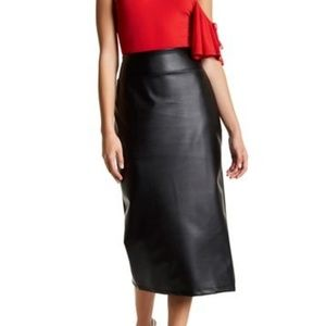 14th & Union Faux Leather Pencil Skirt